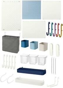 Pegboard Hook Shelf Container Elastic Cord Easy Trendy Storage Organisation IKEA