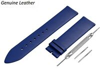 Genuine Leather BLUE Strap Fits CITIZEN Watch Band For Buckle Clasp 12-24mm Mens