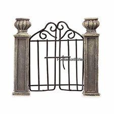 Miniature  Gate with Pillars DA 161507 Fairy Garden Dollhouse Terrarium