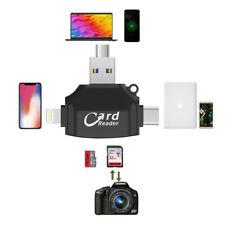 F64 TF / SD OTG Kartenleser für PC Smartphone mit USB Type-C micro B Lightnining