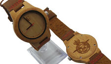 ROYAL AIR FORCE Crest Wooden RAF Wrist Watch Real Genuine Suede Crested Army
