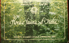 NL* ITALIA DITTICO 500+1000 LIRE ARGENTO 1991 FLORA E FAUNA D'ITALIA FDC SET ZEC
