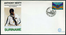 SURINAME E127XX FDC 1988 - Gouden medaille Anthony Nesty