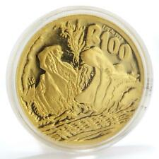 South Africa 100 rand Hippopotamus Wildlife Nature gold coin 1 oz 2005