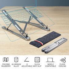 "Ergonomic Aluminium Laptop Stand Cooling Notebook Riser for 14""-17.3"" laptops US"