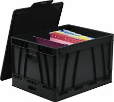 Storex Collapsible Storage Crate - 45 Lb - 9.25 Gal - Media Size Supported: