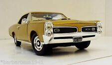 1:18 Scale ERTL Diecast 1966 Pontiac GTO Gold 389 Tri-power MINT IN BOX Muscle