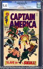 CAPTAIN AMERICA #104 (1968) CGC 9.4 WHITE PAGES CGC #1076850006 CE