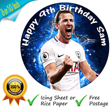 HARRY KANE SPURS CAKE TOPPER PERSONALISED EDIBLE BIRTHDAY CAKE PRINTED TOPPER