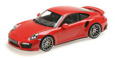 PORSCHE 911 TURBO S 2016 RED 1/18 MINICHAMPS 110067122