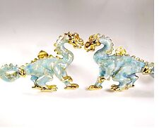 DRAGONS CUFFLINKS, VERMEIL, STERLING SILVER, ENAMEL.  G.DANILOFF & CO.