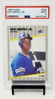 1989 Fleer HOF RC Mariners KEN GRIFFEY JR. Rookie Baseball Card PSA 9 MINT