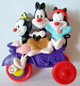 Yakko Wakko & Dot McDonald's Happy Meal Toy Animaniacs Rolling Tricycle Bicycle
