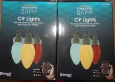 2 boxes 24 ct Holiday Show Home APP Lights Multi-Function color Faceted C9 LEDs
