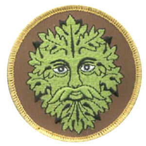 """Green Man Embroidered Patch 3"""" Sew-On Fabric Pagan Celtic NEW"""