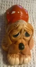 Vintage Retired Pendelfin Pooch In Red Coat Stonecraft Dog Figurine England