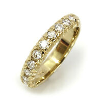 0.6 ctw Natural Diamond Solid 14k Yellow Gold Stackable Wedding Band Ring 4 MM