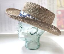 Vintage Country Gentleman Men's Straw Hat w/ Blue Hat Band Medium