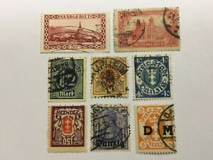 old stamps  GERMAN TERRITORIES      x  8