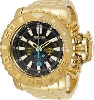 Invicta Mens 70MM Sea Hunter Gold-Tone 200M Diver Chrono Swiss SS Bracelet Watch