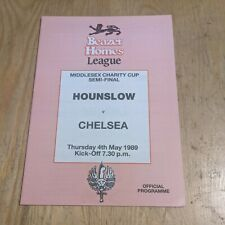 More details for friendly football programme 1989 hounslow chelsea fc