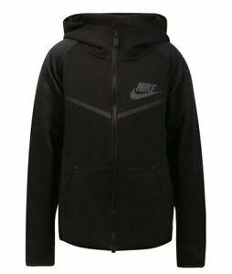 Nike Tech Pack Tech Fleece Full Zip Hoodie Boys Size 7  Black- 86D238 023