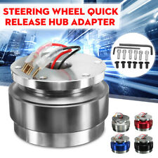 UNIVERSAL SHORT QUICK RELEASE KIT FIT 6-HOLE STEERING WHEEL HUB BOSS ADAPTER
