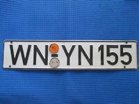 Germany  License Plate  Waiblingen + Orange plastic seal