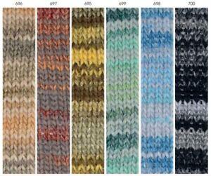 1 gomitolo Lana FIABA Mondial - 50 gr 110m 52% lana merino 48% microfibra