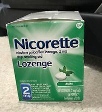 Nicorette Nicotine Lozenge 2mg Mint 144 Lozenges Exp 2022.