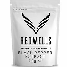 BLACK PEPPER EXTRACT 25g • PIPERINE 95% • FAST DESPATCH • FREE SCOOP