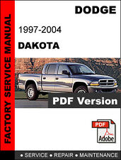 DODGE DAKOTA 1997 1998 1999 2000 2001 2002 2003 2004 SERVICE REPAIR MANUAL