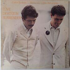 SANTANA MAHAVISHNU JOHN McLAUGHLIN LOVE DEVOTION SURRENDER 1973 CBS 1st PRESS LP