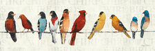 The Usual Suspects (Birds on a Wire) Art Poster Print by Avery Tillmon, 36x1...