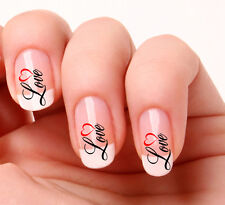 20 Art Ongles Stickers Transferts Autocollants #644 Cœur D'amour saint valentin
