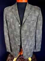 RARE VINTAGE LATE 1950'S-EARLY 1960'S COTTON PRINTED DARK GREEN SPORTCOAT SZ 40