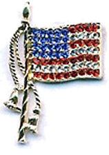 CRYSTAL DOUBLE TASSLE AMERICAN FLAG - PATRIOTIC - 4th of July