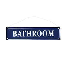 dotcomgiftshop FRENCH BATHROOM SIGN BLUE METAL. HANGING SHOWER ROOM METAL SIGN