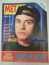 rivista METAL SHOCK 95/1991 Faith No More Morbid Angel Tangier Billet Boys No cd