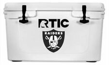 "Oakland Raiders Decal Sticker For Yeti RTIC Cooler Truck -- 6"" H"