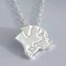 "ROTTWEILER necklace, 45cm / 18"" silver plated chain"