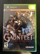 Gauntlet : Seven Sorrows - ( Microsoft Xbox ) Complete W/box & Manual !