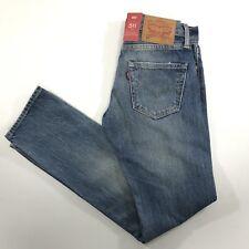 Levis Mens 511 Slim Selvedge Jeans Distressed 28x32 X0302 $148
