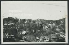 CA Sonora RPPC 40's TOWN VIEW Buildings Tuolumne County