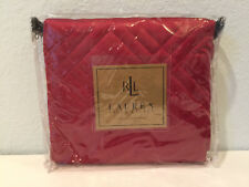 Ralph Lauren Antoinette Hunter Coat Red Standard Pillow Sham Quilted