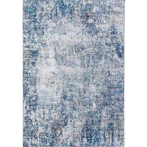 Doormat Abstract Large Rug Blue Grey Print Morden Carpet Area Rug Mat 50x80cm
