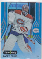 19/20 SYNERGY...CAREY PRICE..BLUE PARALLEL..# 13..CANADIENS..FREE COMBINED SHIP