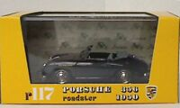 BRUMM R117-02 PORSCHE ROADSTER 356 CABRIOLET die cast model car, black 1950 1:43