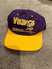 ec91f52b1 Vintage Minnesota Vikings Snapback Hat NFL 90s Rare Eastport Cap