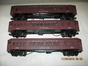 Lionel 2625 (2), 2628  Irvington and Manhattan Cars